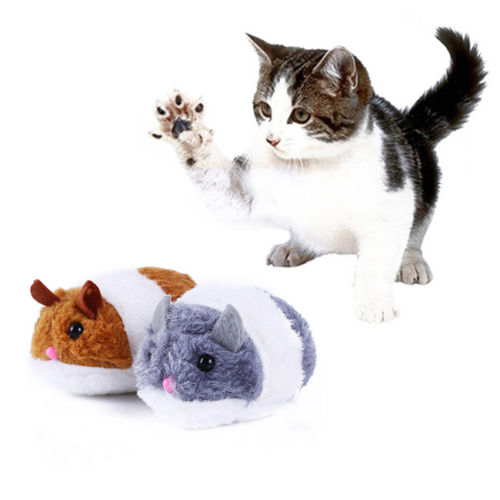 Plush Pet Cat Toy Vibration Little Fat Mouse Chasing Fun Squeaky Action Figures Doll Soft Stuffed Animal Toys cartoon kids toy gift FFA1078