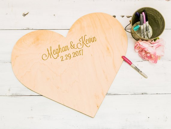 Custom-Wood-Heart-Wedding-Guest-Book-Unique-Signature-Guest-Book-Baby-Shower-Rustic-Guest-Book-Frame (1)