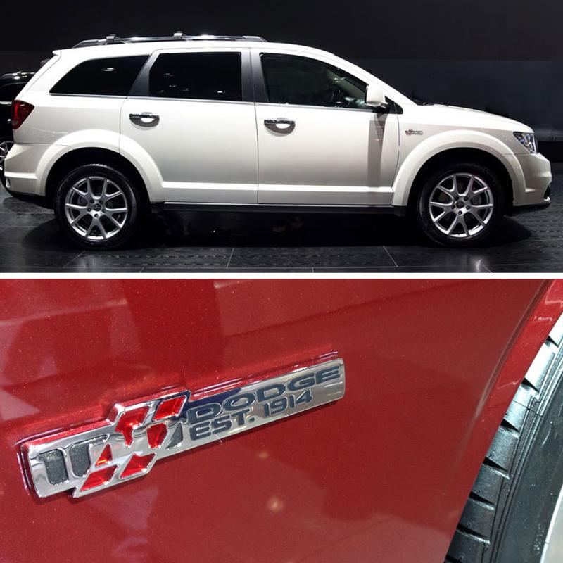 3D Metal Voiture Côté Arrière Fender Arrière Emblème Badge Sticker Autocollants pour Dodge Coolway