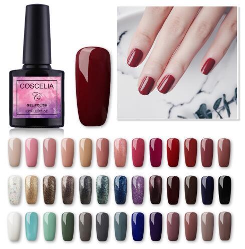 10pc /set Nail Gel Polish Set Semi Permanent Varnish Soak Off UV Gel Nail Polish Kit UV Gel For Nail Gellack Manicure Set