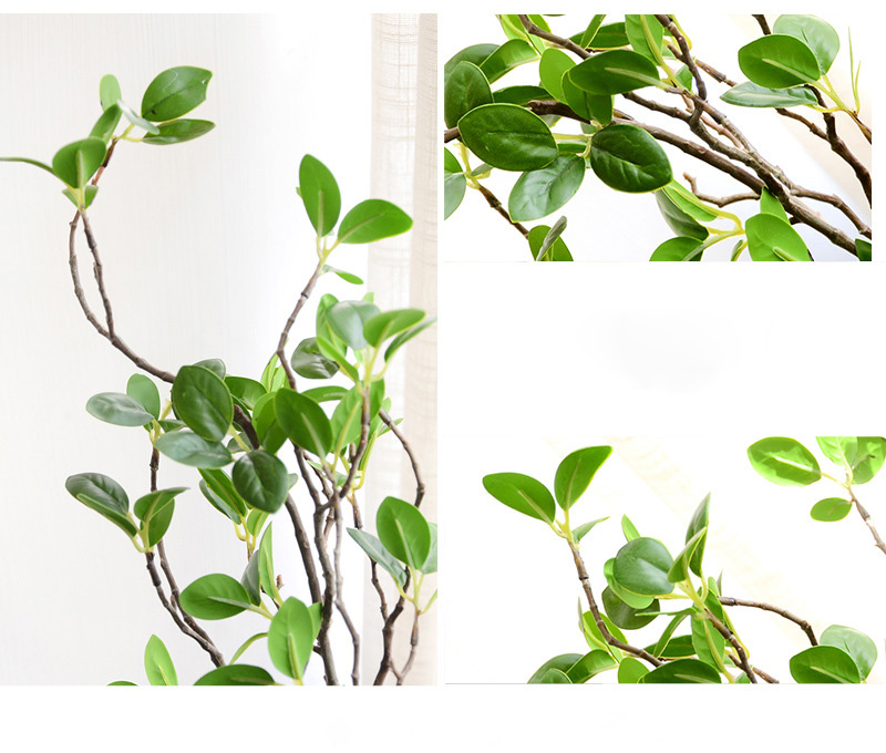 Artificial Flower Leaf Green Plant Branches Simulation Branch Artificial Plant Leaves Wedding Decorative Bouquet DIY material (14)