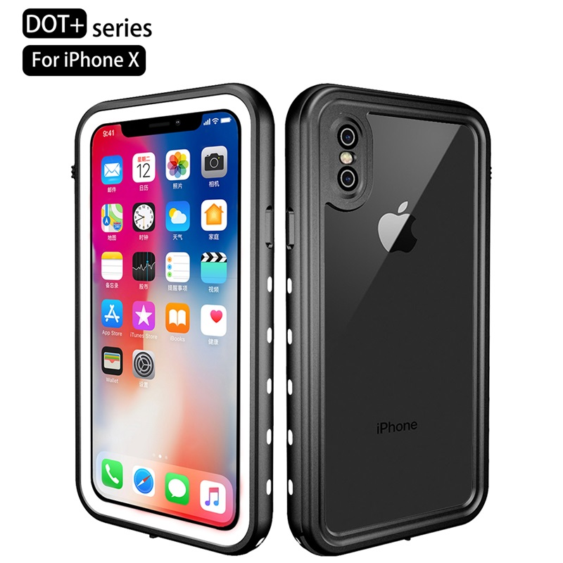 Luxury Waterproof Case For iPhone XR XS Max Clear Soft TPU+PC 360 Full Armor Case For iPhone X S X 10 XSmax Case Fundas Coques (6)