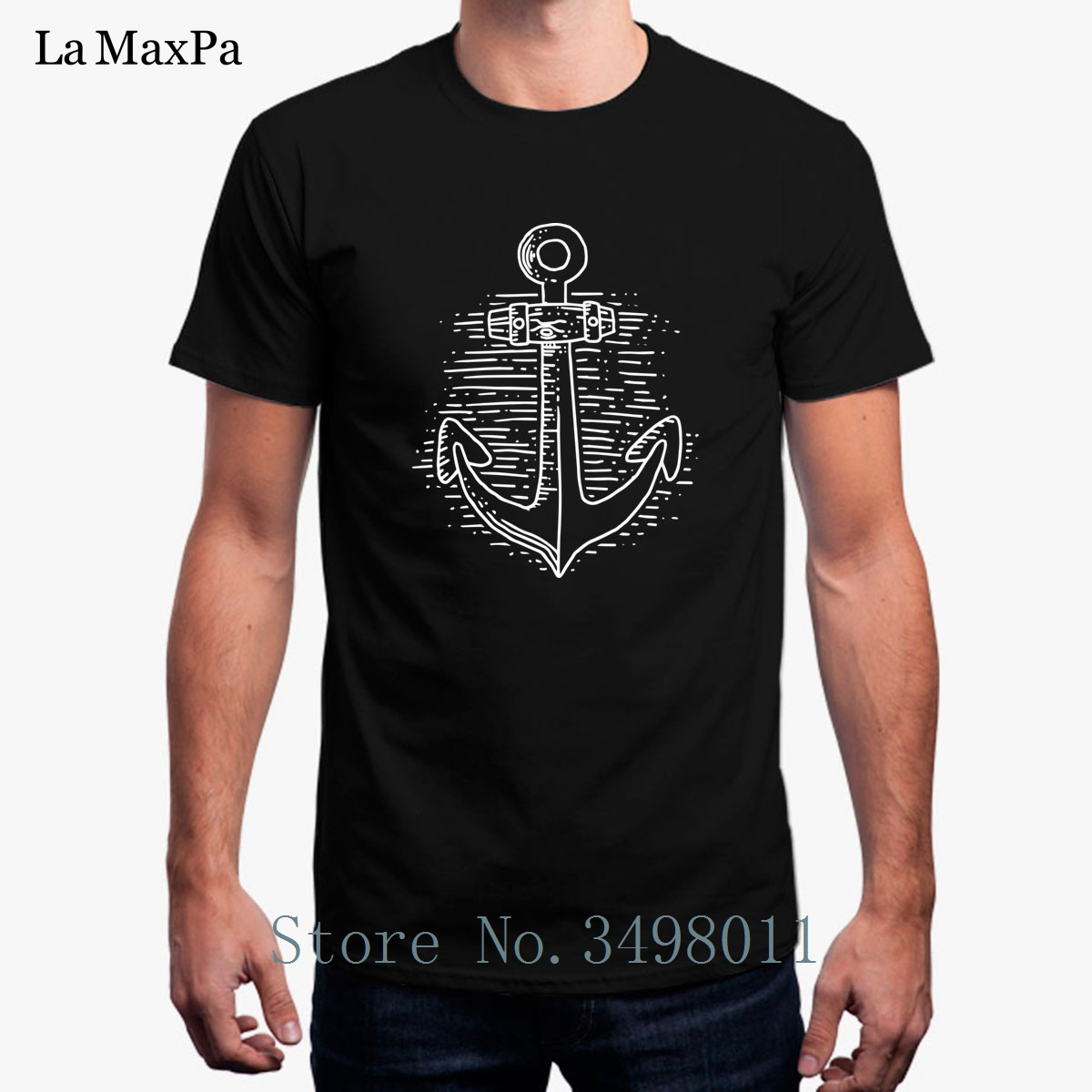 Rudder Anchor Ship Rope Childrens Gray Cotton Long Sleeve Round Neck Tee Shirt for Boy Or Girl