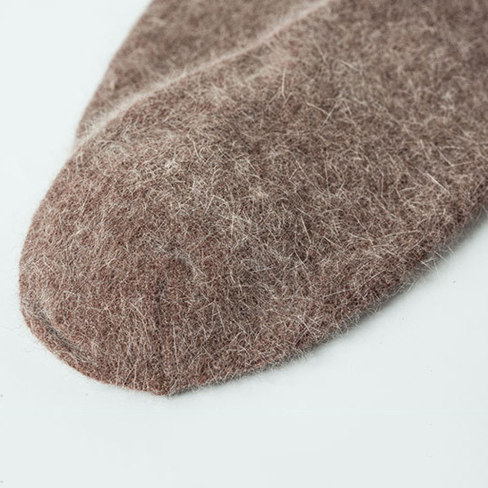 Casual Solid Color Men Warm Autumn Winter Wool Thick Long Socks