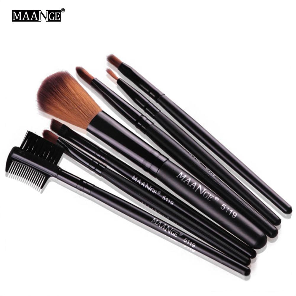 MAANGE Protable Maquillage Brush Set Ombre À Paupières Poudre Maquillage Toilette Sourcil Lèvre Cosmétique Beauté Make Up Brosse Voyage Kit D18111302