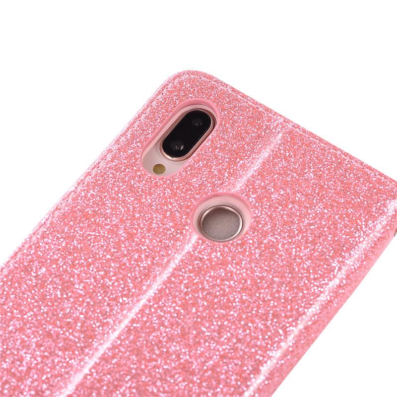 Case For Huawei P20 lite cover glitter Star diamond love flip wallet leather case For Huawei Nova 3e case silicon TPU back cover25