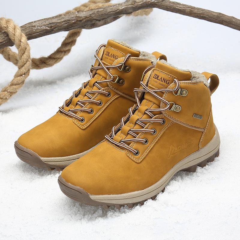Mens Martins Botines de gamuza Estilos musculares de cuero Tacones bajos Tobillo alto Zapatos de senderismo Cálido Invierno Botas de nieve al aire libre WorkSafet size12 13 14