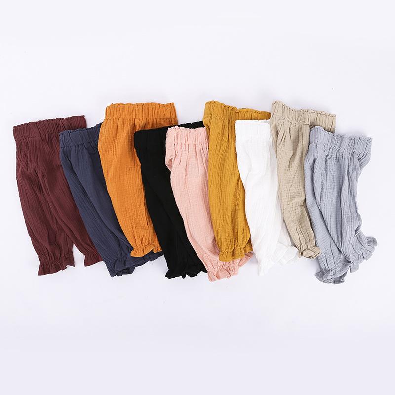 Kids Baby Boy Girl Harem Pants Cotton Linen Baggy Trouser PP Leggings Sweatpants Sleepping Pants Baby Clothing Trousers