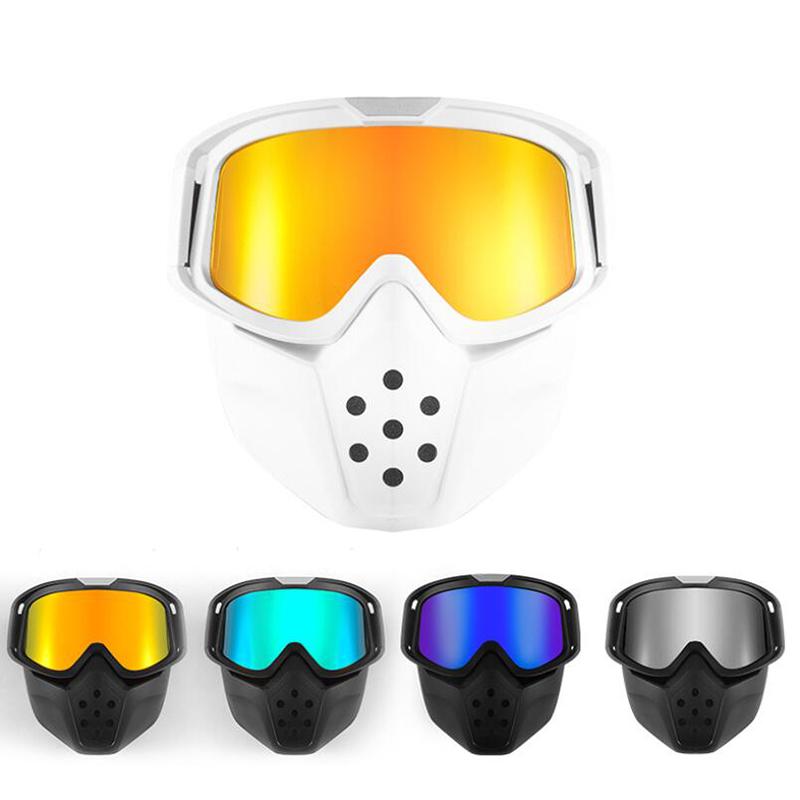 retro maschera da cross antipolvere impermeabile antivento Occhiali da moto universali