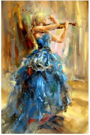 Girls with violin Beautiful woman 7