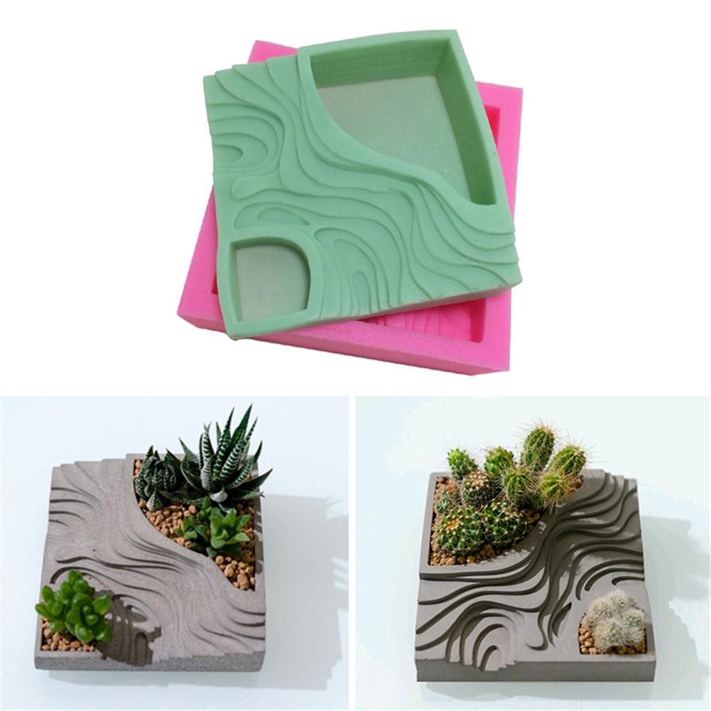 Silikon Kalıp Çimento Kalıpları Teraslar Beton Teraslı Alanları Ev Dekorasyon Için Muti-et Çiçek Ekici Kalıp