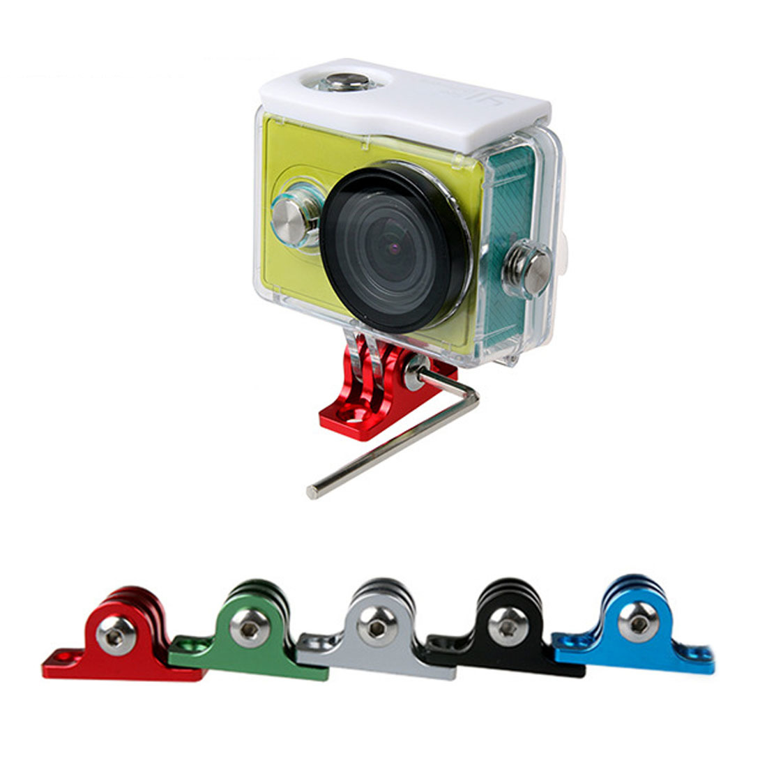 CNC Aluminum Alloy Tripod Adapter Mount for GoPro Hero 5 6 4 Session Xiaomi Yi 4K SJCAM SJ4000 SJ5000 h9 Go Pro Mount Accessory