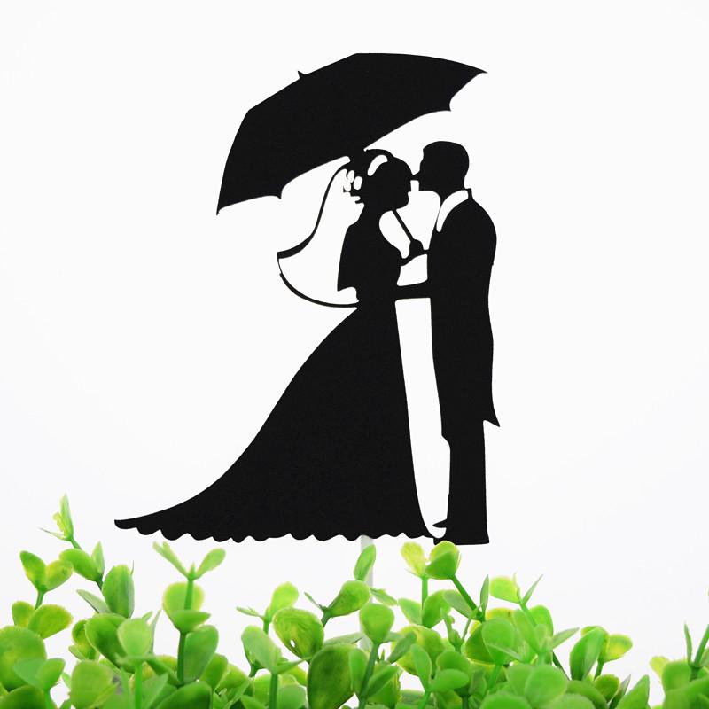 Cake Toppers Flags Umbrella Mr & Mrs Kiss Love Kids Birthday Cupcake Topper Wedding Bride Groom Party Baking DIY Xmas
