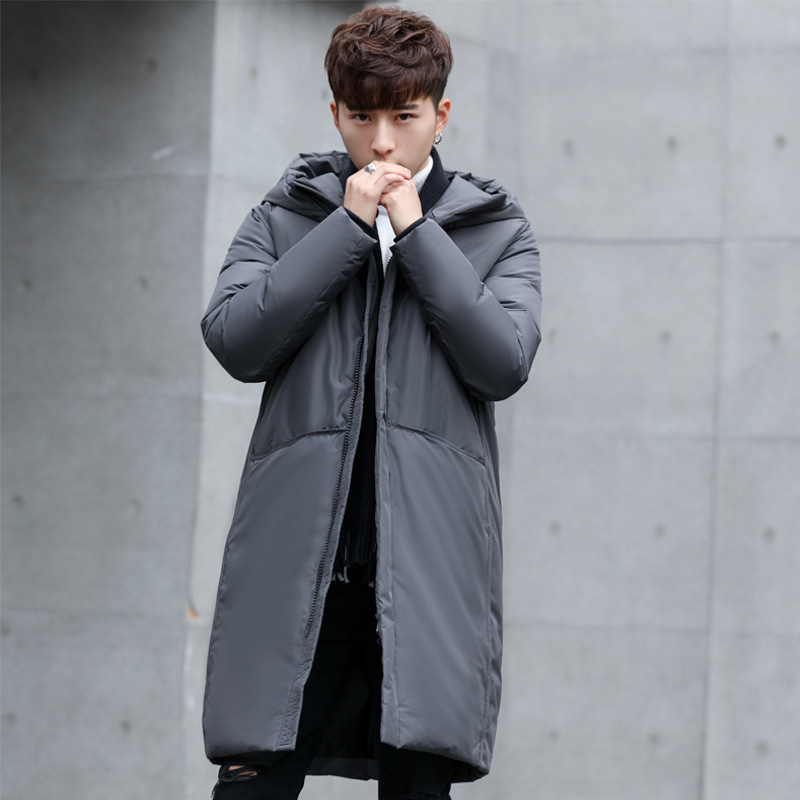 Hooded Long Winter Duck Down Parkas Men Casual Clothing Outwear Down Jackets Male Thick Down Coat Fashion Puffer Jacket C18111901