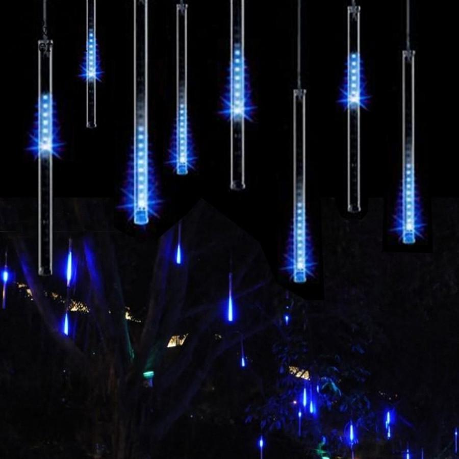 Hot-Selling-30CM-Meteor-Shower-Rain-Tubes-LED-Light-For-Christmas-Wedding-Garden-Decoration-100-240V