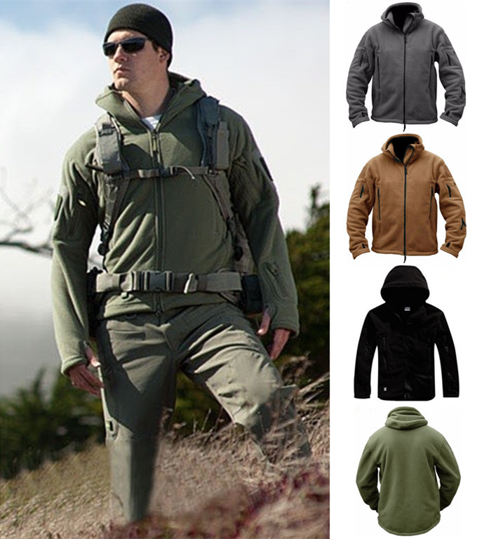 Winter Military Tactical Coat Outdoor Softshell Fleece Jacket Men Army Polartec Sportswear Clothes Warm Casual Hoodie men' jackets GGA1028