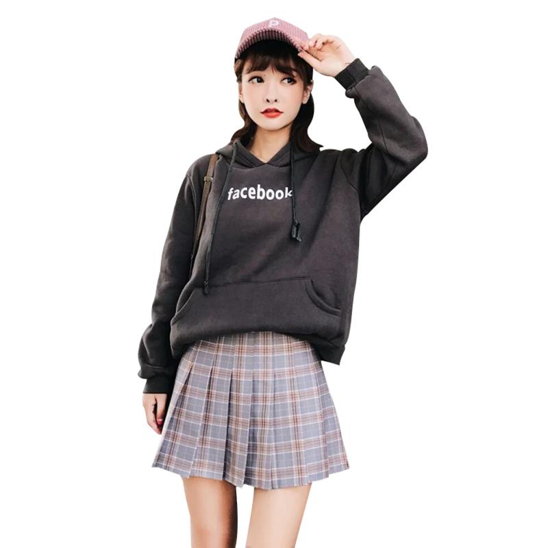 Womens Schoolgirl High Waist Skater Mini Skirt Short Skirt Dress Cosplay Costume