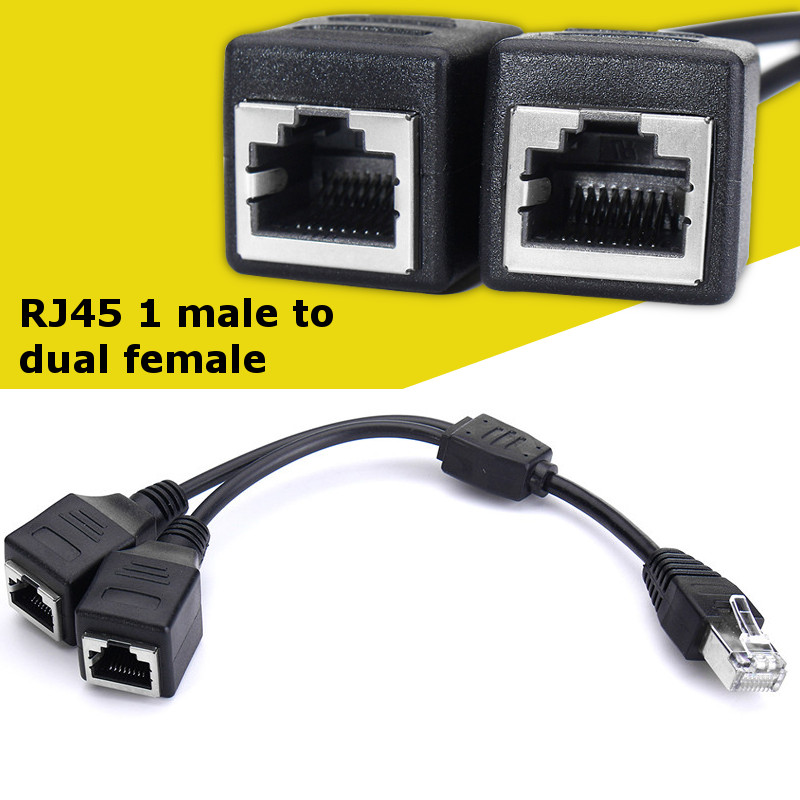 20x RJ45 CAT5e CAT6 Network LAN Cable Extension Coupler Joiner Connector ADSL