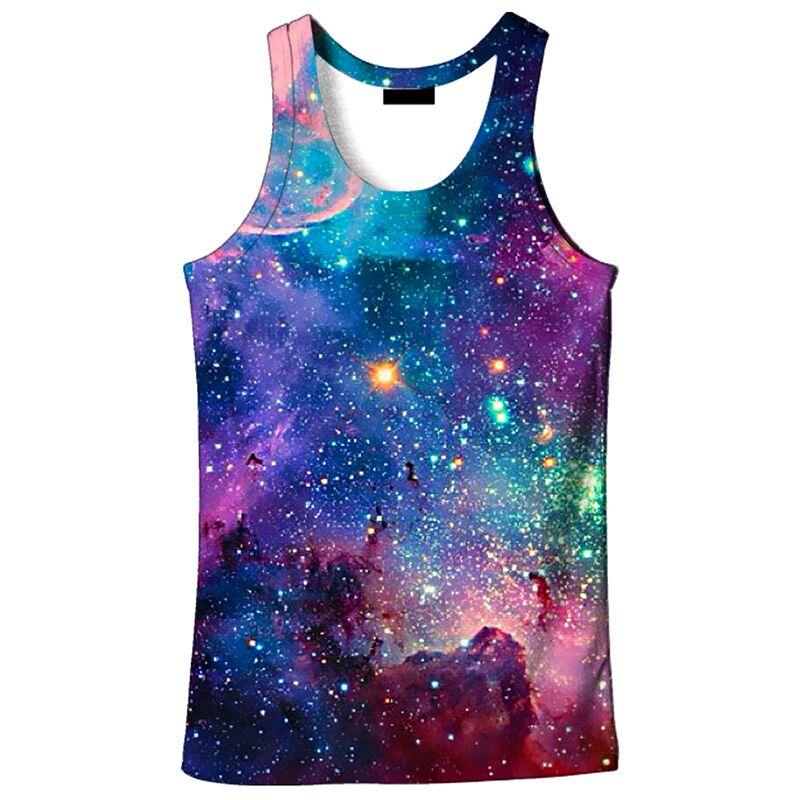 Cat in Space Tank Top Vest Shirts Singlet Tops Sleeveless Underwaist for Men Running