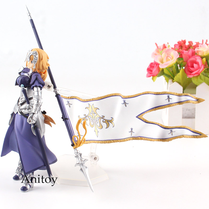 2019 FGO Figma Fate Grand Order Figure Ruler Jeanne D'Arc Figma 366 PVC  Jeanne Fate Action Figure Collection Model Toys From Haoxinsgame2, $29 63 |
