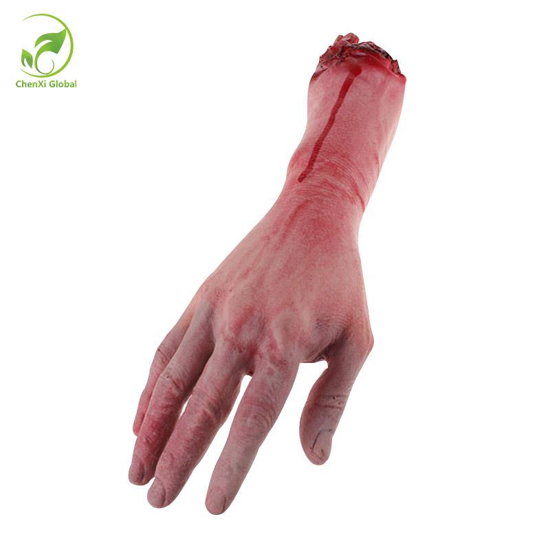Halloween Dekor Blutige Horror Hand Fuß Abgetrennte Körper Grusel Party Props