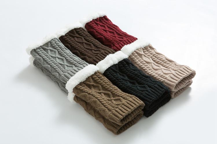 12styles Girls Winter Calentadores de Pierna Corta Moda Lana de Punto Mujeres Warm Crochet Knit Boot Calcetines Toppers Puños Calentadores de calles populares FFA1126