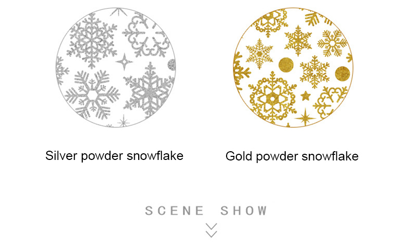 2019 New Year Gold Powder Silver Powder Snowflake Christmas Decorations for Home Window Glass Background Decoration Sticker (2)