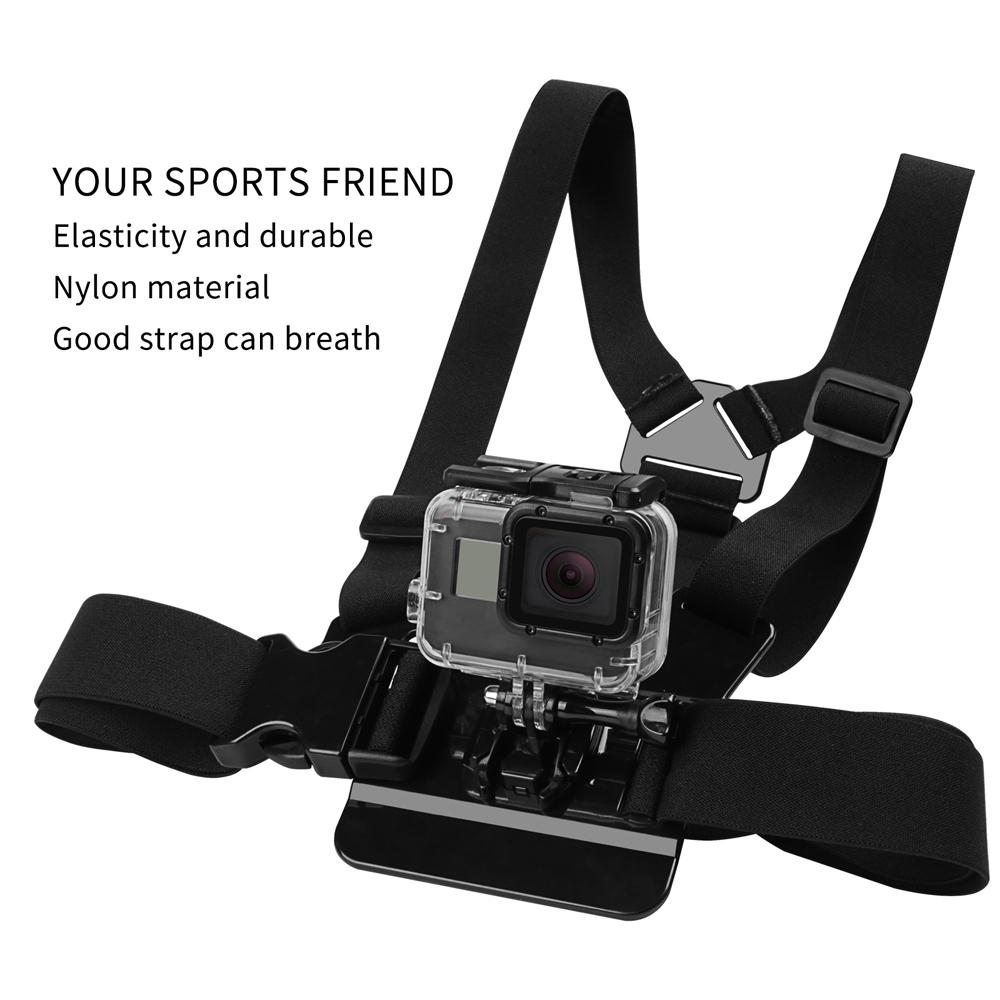 Chest Strap mount belt for Gopro hero 7 6 5 Xiaomi yi 4K Action camera Chest Mount Harness for Go Pro SJCAM SJ4000 sport cam fix dji osmo