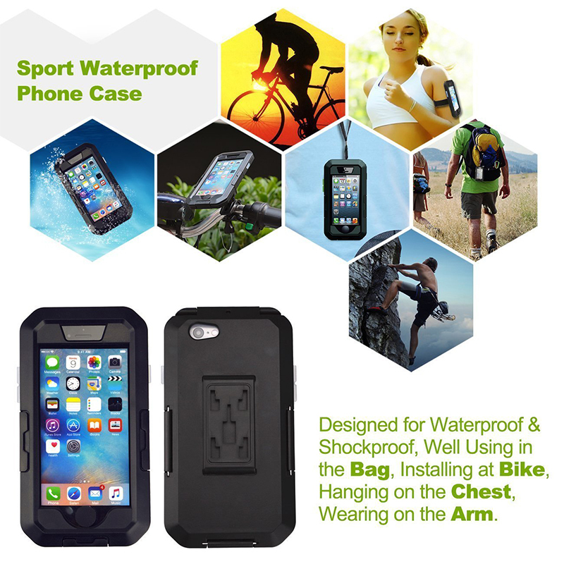 Bicycle Motorcycle Phone Holder For iPhone X 7 8 Plus Waterproof Telephone Support For Moto Stand Bag Bike Cover Mobile phone C18110801