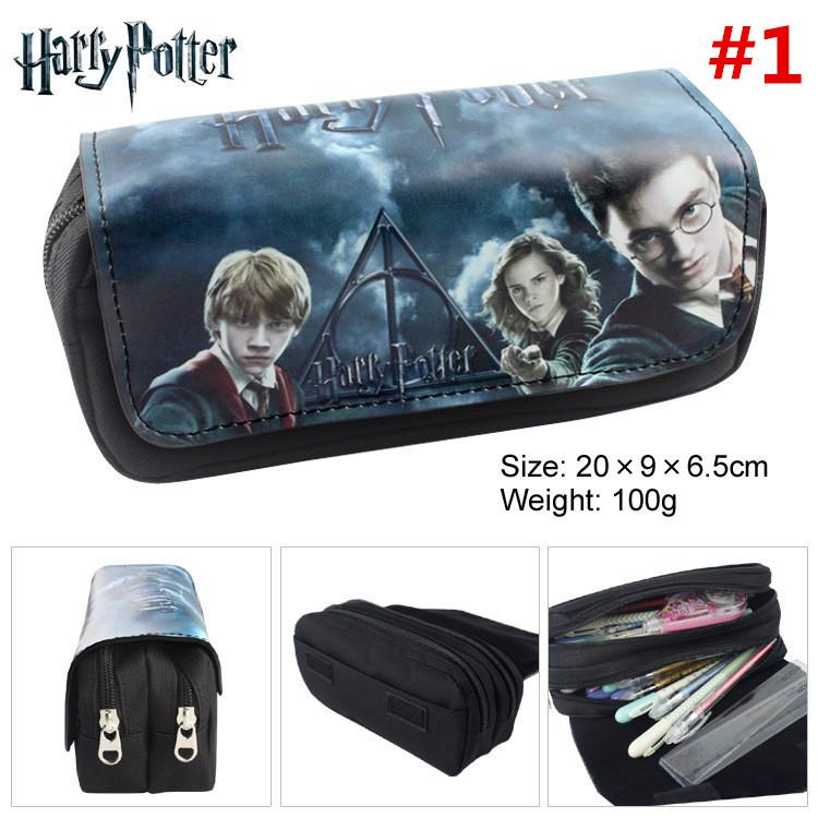 Harry potter crayon stylo sac portefeuille portefeuille bande dessinée crayon cas étudiants papeterie sac de rangement école fournitures de bureau pièce Puerse T1I898