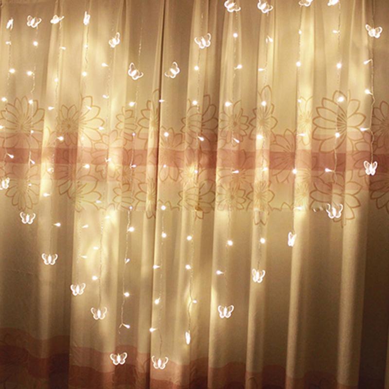 Acheter Rideau De Fées En Forme De Coeur LED Lumière 2 * * 1,5 M 124 Leds  Valentine Noël Lumière De Noël Fenêtre De Noël Guirlande Décor De $26.98 Du  ...