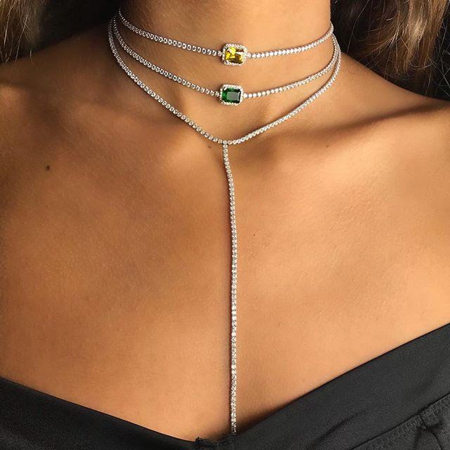 tour de cou collier diamant