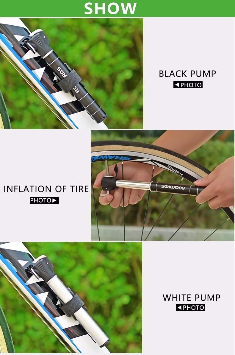 40ROCKBROS 100Pis Aluminum Bidirectional Unidirectional Bicycle Pump Cycling MTB Bike Presta & Sc
