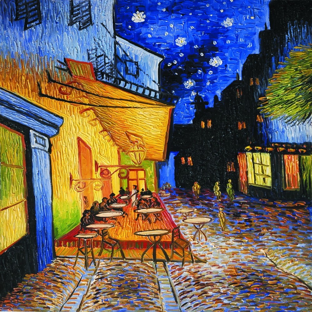 Compre Cafe Terrace At Night Por Vincent Van Gogh Lienzos De Pared Reproducciones De Pinturas Al óleo Escenas Callejeras Paisaje Arte Imagen Y18102209