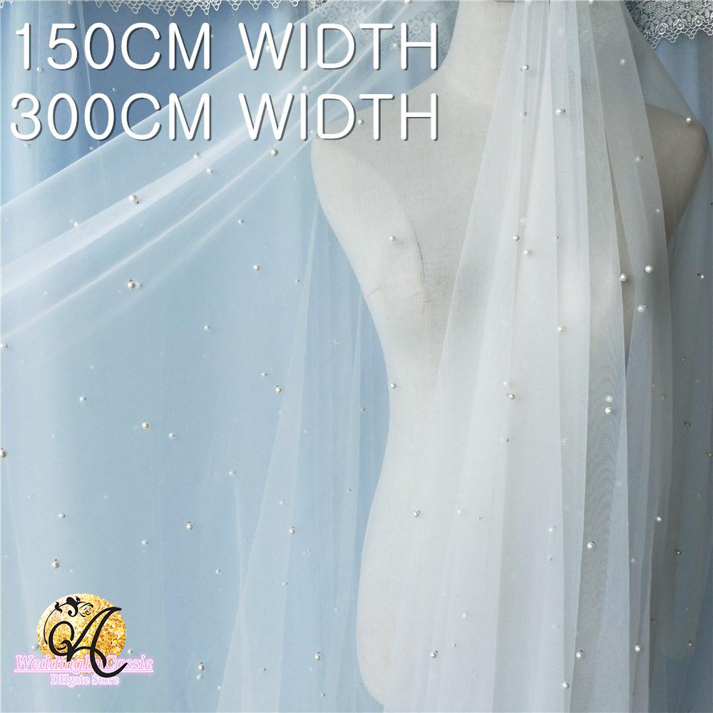 3m Bridal Eyelash Lace Fabric Wedding Veiling Evening Dress 150cm Width