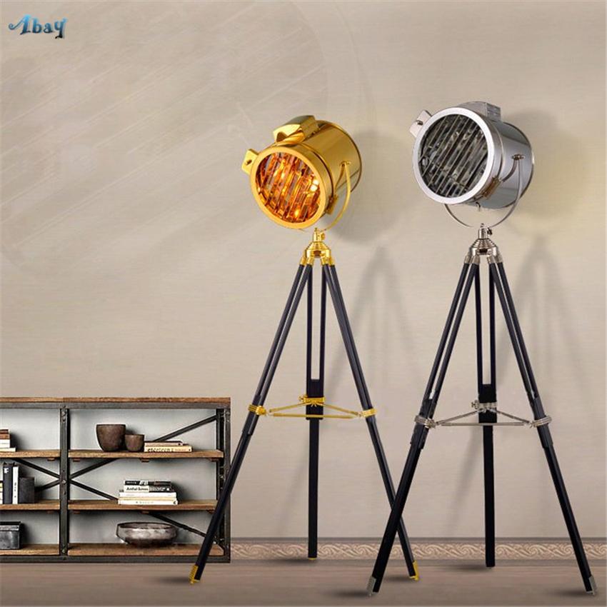 American Retro Industrial Stand Stehlampen Studio Wohnzimmer Schlafzimmer Nacht Studie Marine Probe Holz Deco Tisch Bodenleuchten