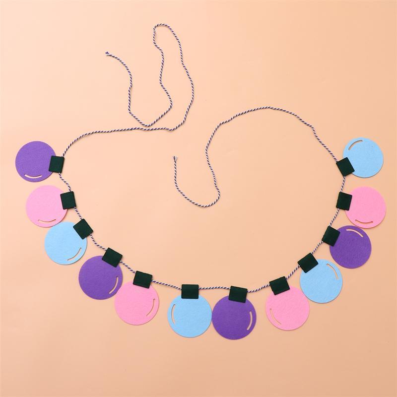 Guirlande de ficelle décorations colorées ampoule bannière Bunting pour anniversaire de mariage de Noël Baby Shower violet / rose / bleu
