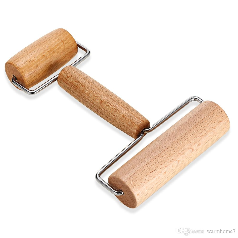 Kitchen Gadget Cooking Tools Wood Pastry Pizza Roller Handdle Rolling Pin Kitchen Dining Bar Bakeware Rolling Pins NB