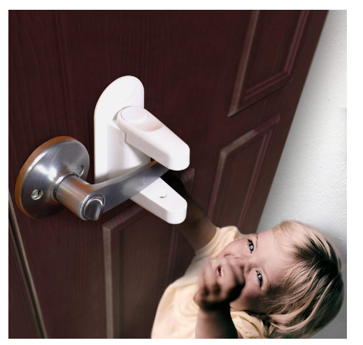 Children Safety Lock Door lever baby Door Handle Locks kids Safety supplies Door Locks GGA1005