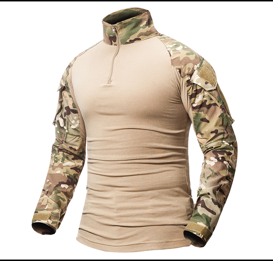 Mens Long Sleeve Cargo Casual Shirts Military Air Army Tactical Combat Sport Top