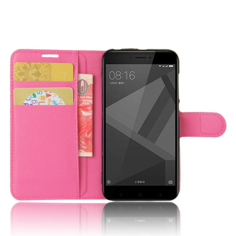 For Xiomi Xiaomi Redmi 4X Case 5.0 inch Wallet PU Leather Cover Phone Case For Xiaomi Redmi 4X 4 X Case Silicone Flip Back Bag (40)