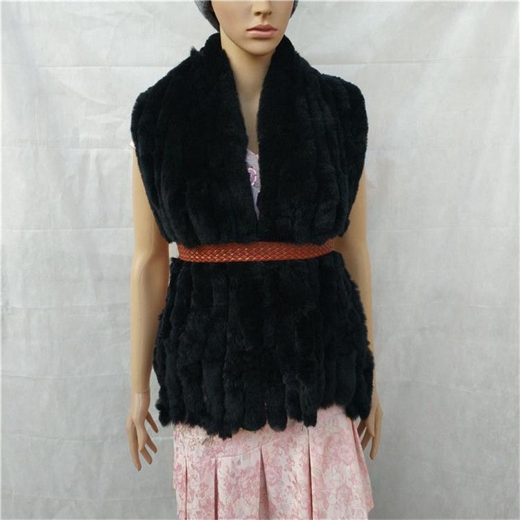 knitted rex rabbit fur scarf for women winter (9)