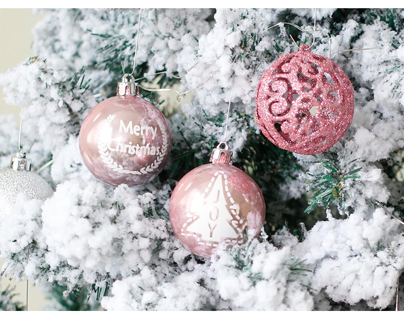 10inhoo 20pcs Christmas Tree Ornament Balls plastic 6cm Xmas Baubles Accessories Christmas Decorations For Home Party Gift