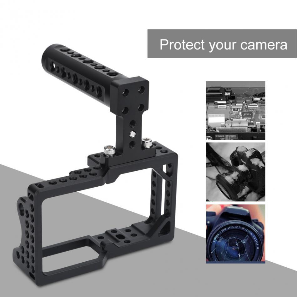 Aluminiumlegierung Videokamera Käfig Protector Stabilisator mit Top Griff Kit für BMPCC DSLR Kamera