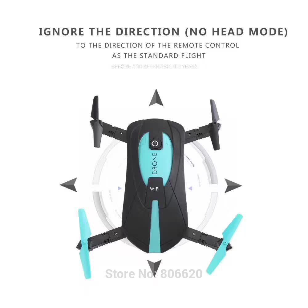 Low Cost HD Wifi Real-time Aerial Photography Foldable Toy Drone with No Head Mode & Mobile Phone & Tablet App Gravity Control_4