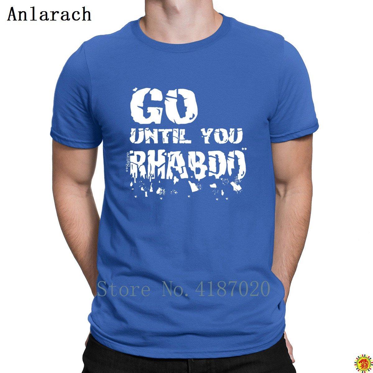 Gitmek Kadar Rhabdo Tişörtleri Spor Trendy Resmi Örme erkek Tshirt Büyük Boyutları Yeni 2018 Tee Gömlek HipHop Üst