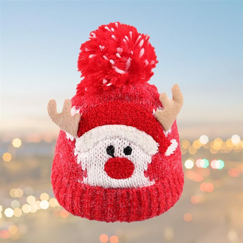 Natale Bambino Bambini Ragazze Ragazzi Inverno caldo in maglia di lana Beanie Cappelli Natale carino cervi tappi le forniture di Natale