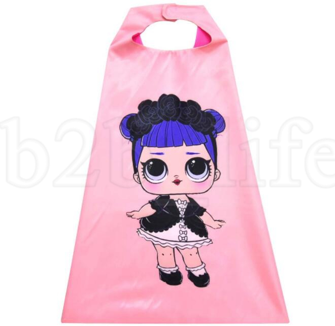 kids Cloak mask set Cosplay Doll Cartoon Girl Cloak Mask Children's Halloween Costume for Kids KKA5971