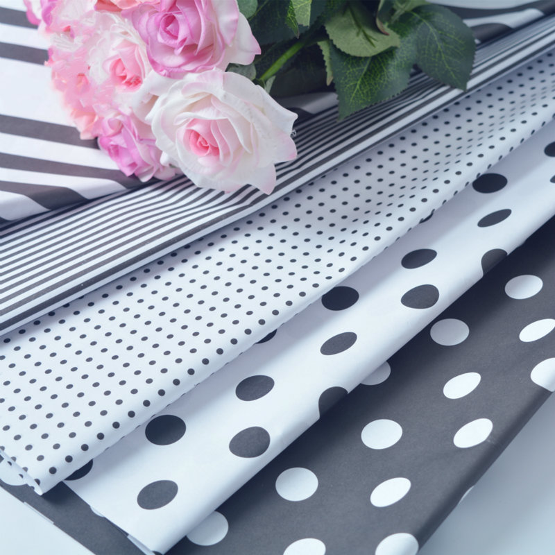 Polka Dots Flowers Wrapping Paper Gift Packaging Paper Korean Floral Bouquet Materials Wedding Decoration Supplies haif