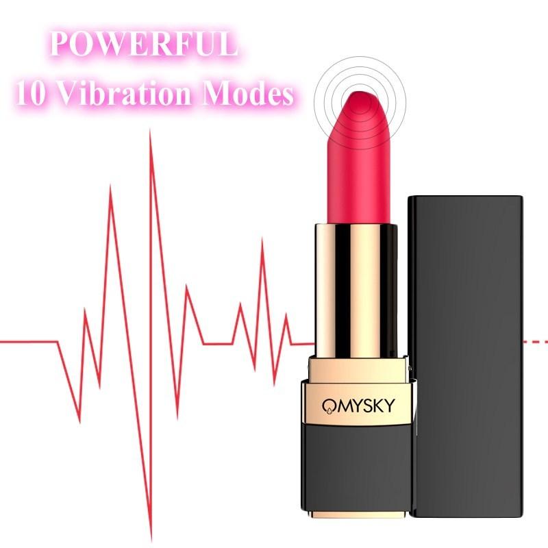 OMYSKY Female 10 Speeds Lipstick Vibrator Sex Toys For Women Electric Vibrating Vagina G-spot Bullet Massage Mini Adult Product S18101905